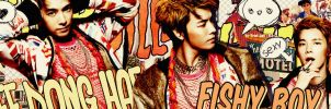 [SJ's Pack] Part 7 22/9 - Fishy Lee Donghae by Eriol-Diggory-Art