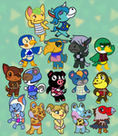 Animal Crossing Villagers by Mystic-Snail