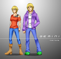 Zodiac Gijinka: Gemini by grand-cross7000