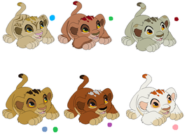 Lion cub adoptables - CLOSED by PCollinsAdoptables