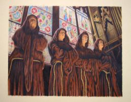 Gregorian Monks by Wolf-Daughter