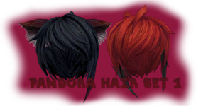.:MMD:. [MVS] Pandora Hair Set 1 {DL} by Len11999