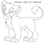 Cubbie lineart by Lil-Cheetah