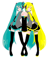 Miku and Neru by xXToto-ChanXx