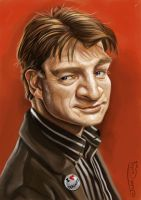 NATHAN FILLION by JaumeCullell
