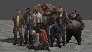 All Models of Left 4 Dead - XNALara (W.I.P) Ready by JhonyHebert