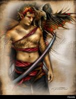 'Hawk' Male Warrior Fairy by MysticMoonMedia
