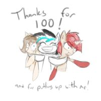 Thanks for 100! by CrutonArt