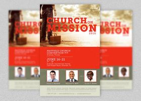 Church Missions Flyer Template by Godserv