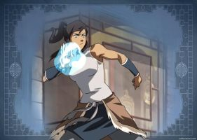 Waterbending Korra by SofiaColors