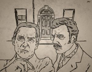 GALERIE GOODIES - Page 4 Holmes_and_Watson_Drawing_by_Jkwoo1970