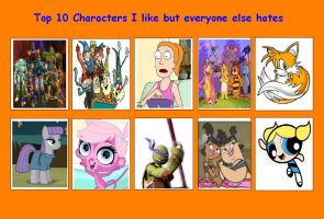 10 Characters I Like but Everyone Else Hates 05 by SithVampireMaster27