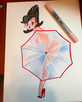 Umbrella Pinup by spicysteweddemon