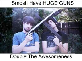 SMOSH'S HUGE GUNS by Division90