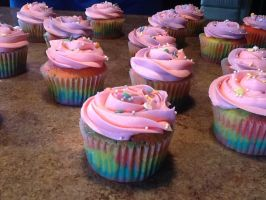 More rainbow cupcakes~ by laurenm7410