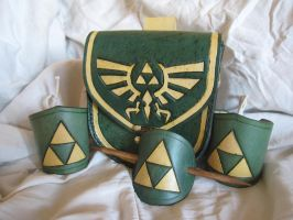 Leather Triforce Set by TheScreamingNorth