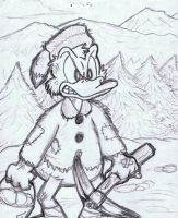 Scrooge of the Yukon sketch by WhiteRabbitInk