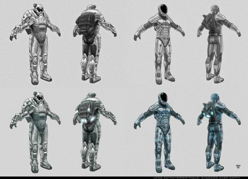 UFO armor concepts by hunterkiller