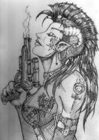 Cyberchicks like Guns by LadySaishan