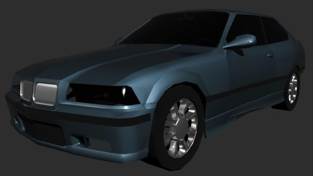 '98 BMW low-poly, pre-texture by AviKohl