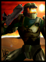 Master Chief by Akebashi-chan