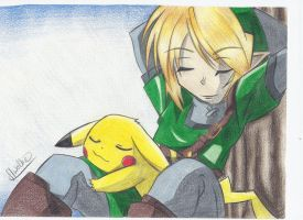 Link and Pikachu 2 by StrawberrySocks