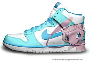Mew Nike Dunks Custom by Houggiebear
