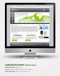 Horizons Economic website layout by ikale