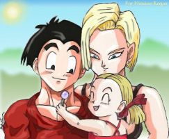 Krillin+Family - For Himitsu-K by The-Ebony-Phoenix
