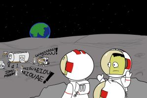 Kerbal Space program fanart. Moonbase Alpha by Mrfancy