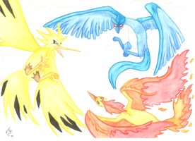 Legendary Bird Pokemon by Deezmo