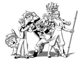Toon Heroes Inked by thelearningcurv