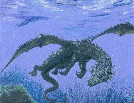 Water Dragon by ManicDraconis