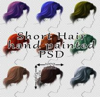 Short Hair hand painted by Trisste-stock-moved