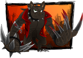 [FoE] Hellhound concept by TheOmegaRidley