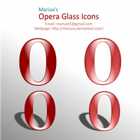 Opera Glass Icons by MariuxV
