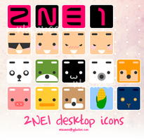 2NE1 and Friends Desktop Icons by ygladies