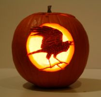 Raven Pumpkin by XylidineGriffin