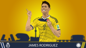 James Rodriguez vector wallpaper by seloyxx