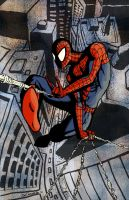 Spidey Swingin in New York by Sapoman
