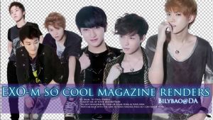 EXO-M So cool magazine renders by BiLyBao