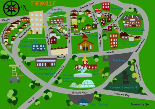 Map of Thenville by Colourblind-Crayon