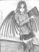 A dark angel by krow000666