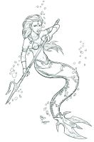 Mermaid Warrior by staino