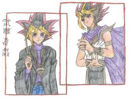 Panseru and Yugi Motou by SkylaDoragono