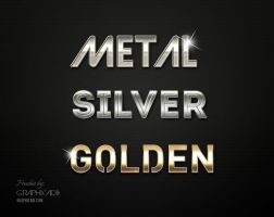 Freebie: Metallic Photoshop Layer Styles by Graphicadi