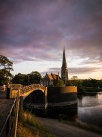Sunset Over St. Alban's by amipal