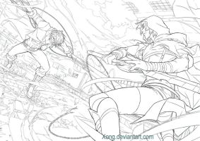 Fight Line art commission by xong