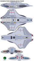 Federation mission scoutship by bagera3005