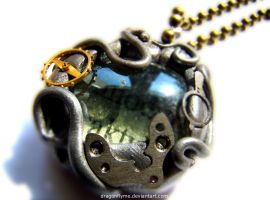 steampunk necklace by dragonflyme